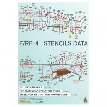 F-4/RF-4 STENCILS DATA...
