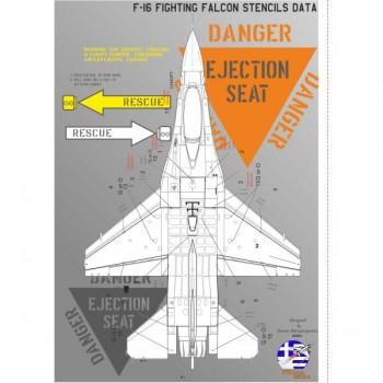 F-16 VIPER STENCILS DATA -...